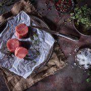 Rustikale Fleischfotografie